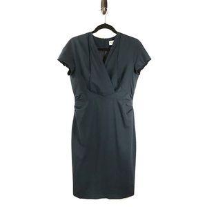 M.M. Lafleur Emma Stretch Wool Dress Navy 10